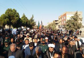 راهپیمایی مردم شهیدپرور سرخس در محکومیت ترور سردار شهید حاج قاسم سلیمانی